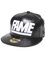 Men - Hall of Fame Leather Fame Block New Era Fitted Cap