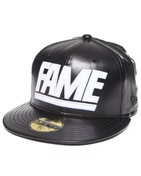 Hall of Fame Black Hall Of Fame Leather Fame Block New Era Fitted Cap