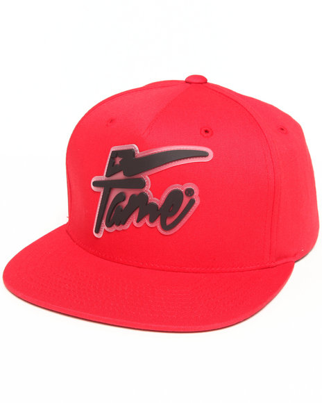 Hall Of Fame Champion Rubber Snapback Cap Red