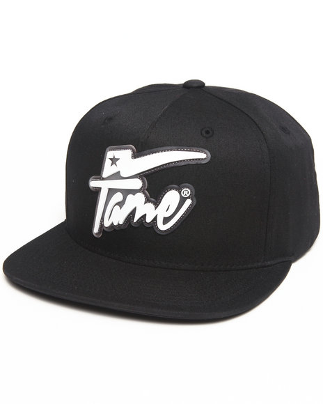 Hall Of Fame Champion Rubber Snapback Cap Black