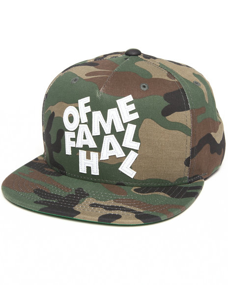 Hall Of Fame Stacked Snapback Cap Camo