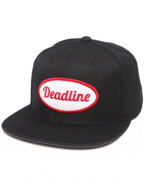 Deadline Work Snapback Cap Black