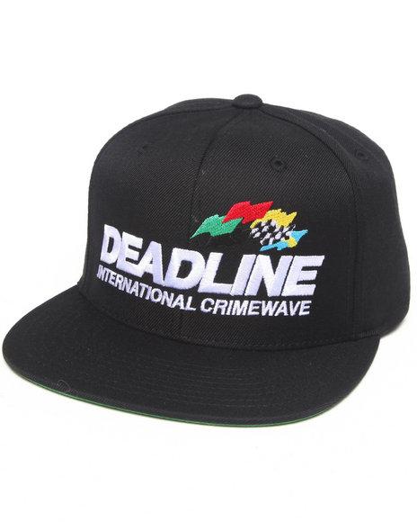 Deadline Crimewave Snapback Cap Black