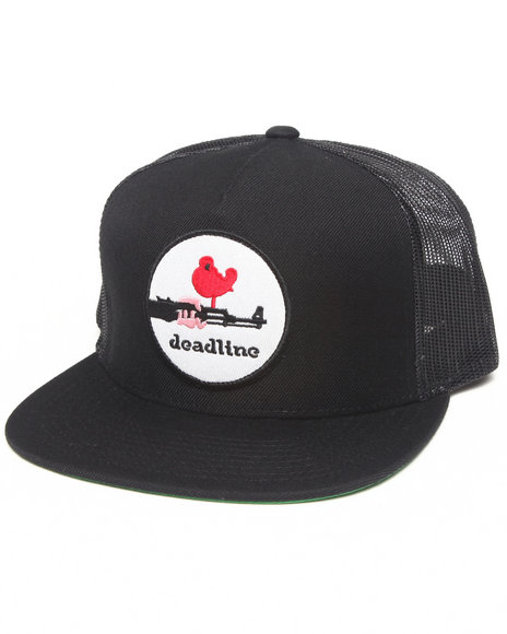Deadline Woodstock Snapback Cap Black