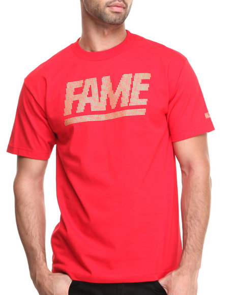 Hall of Fame Red Fame Block Jumbotron Montana Tee