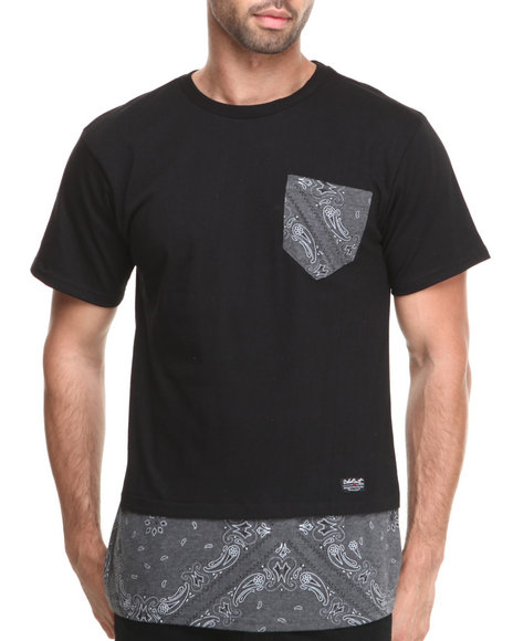 Buyers Picks - Men Black Trim Layered Premium Animal Tee