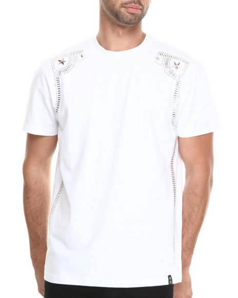 Forte' White Two Star Studded S/S Tee