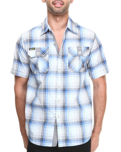 Akademiks Blue Button-Downs