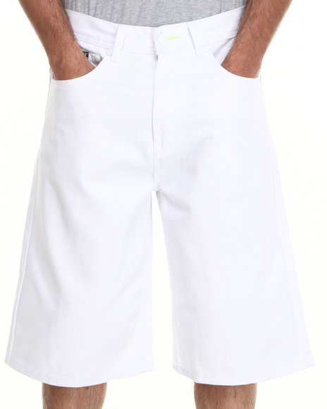 Akademiks - Men White Brady Signature Fanback Twill Pocket Shorts