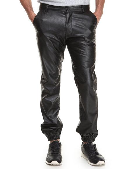 Akademiks - Men Black Smith Faux Leather Pants