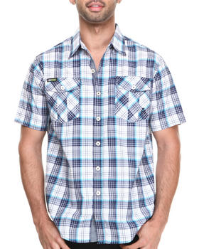 Akademiks - Simon Plaid S/S Button down shirt