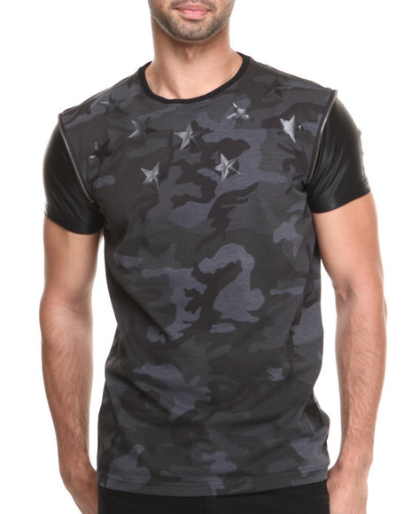 Allston Outfitter - Men Black Camo Star T-Shirt - $32.99