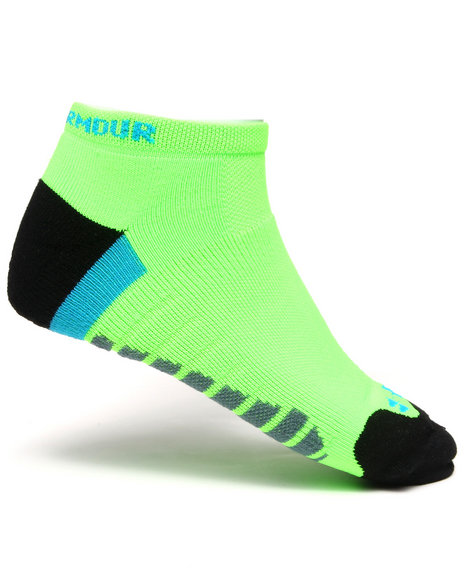 Under Armour Men Full Cushion Running Socks Lime Green Large