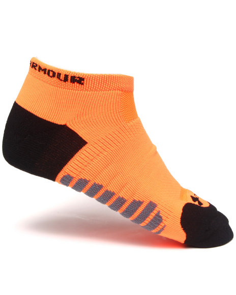 Under Armour Men Full Cushion Running Socks Orange Large