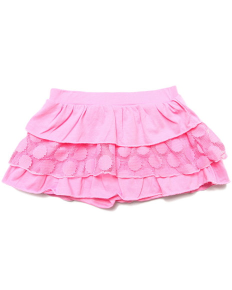 La Galleria Girls Pink Tiered Ruffle Skirt (4-6X)