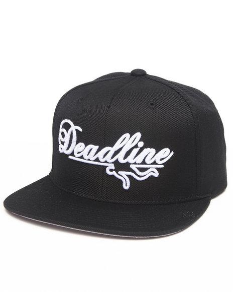Deadline Script Logo Snapback Cap Black