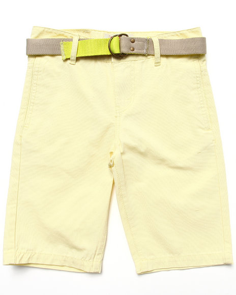 Levi's Boys Yellow Beach Comber Belted Flat Front Shorts (8-20)