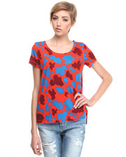 Short-Sleeve - Lours Camo Print Top