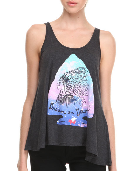 Glamour Kills Black Original Dreamers Drape Tank