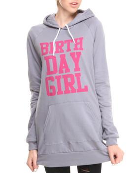 Birthday Girl - BG Fleece Pullover Hoodie Dress