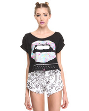 Women - Talk that Talk Crop Tee