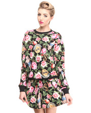 Sweaters - Angelic Rich Floral Crew