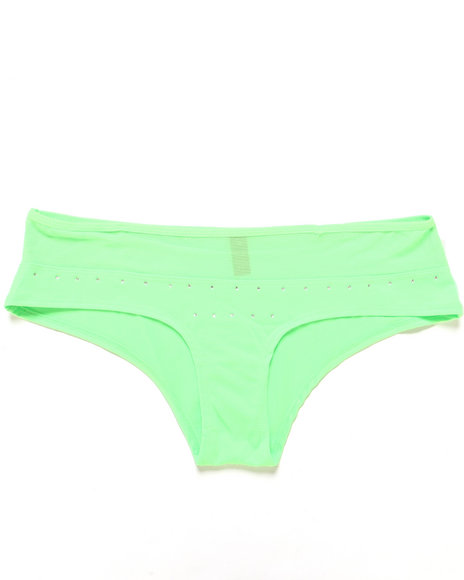 Baby Phat - Women Neon Green Rhinestone Star Short (Plus)