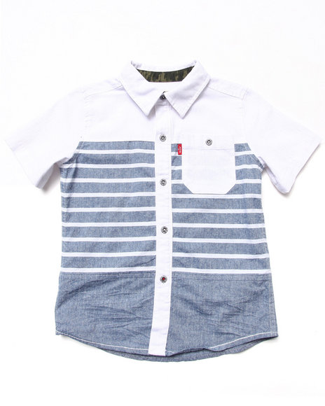Levi's Boys Light Wash Alameda Paneled Shirt (4-7X)