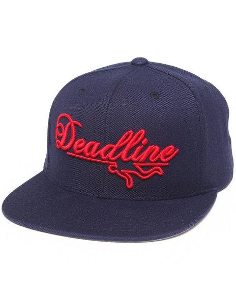 Deadline Script Logo Snapback Cap Navy