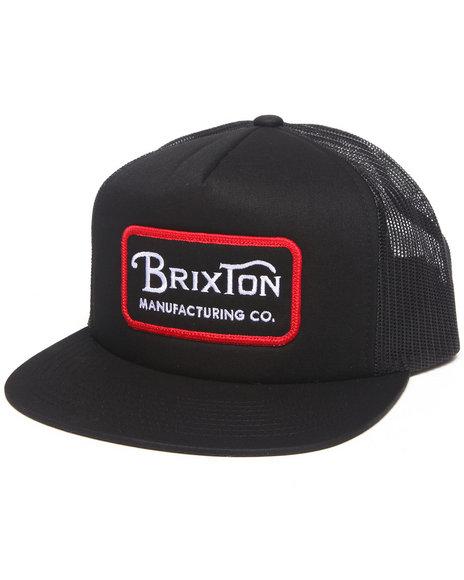 Brixton Grade Mesh Snapback Cap Black