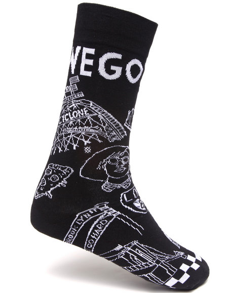 Stance Socks Men Brooklyn Go Hard Socks Black Large/X-Large