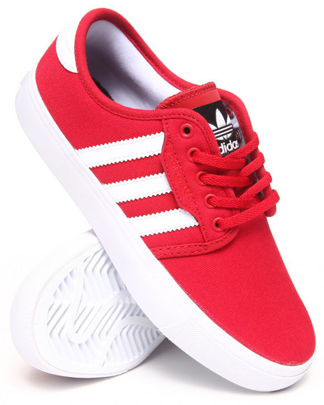 Adidas - Boys Red Seeley J Canvas Sneakers