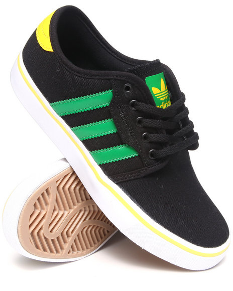 Adidas Boys Black Seeley J Canvas Sneakers