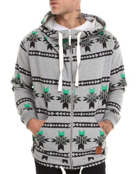 Allston Outfitter Grey Snowflake Hoodie