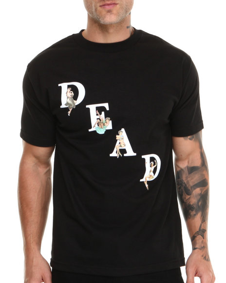 Deadline - Men Black Dead Pin Ups Tee - $13.99