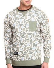 Two Angle Clothing - Yazip Camo Crewneck Zip Sides Sweatshirt