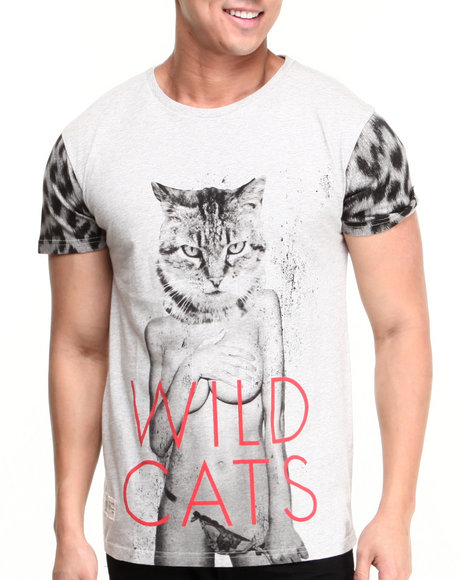 Two Angle Clothing - Men Grey Ycats Tee