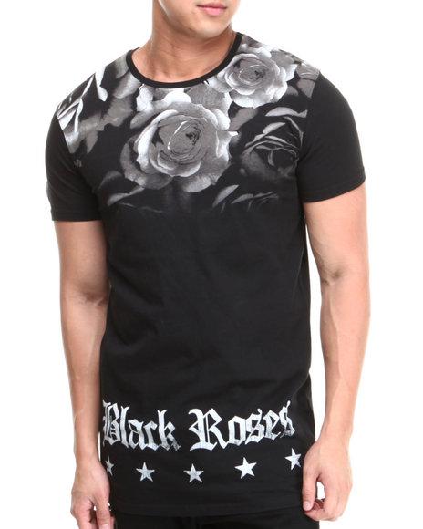 Black Kaviar - Men Black Gupflap Black Roses Tee