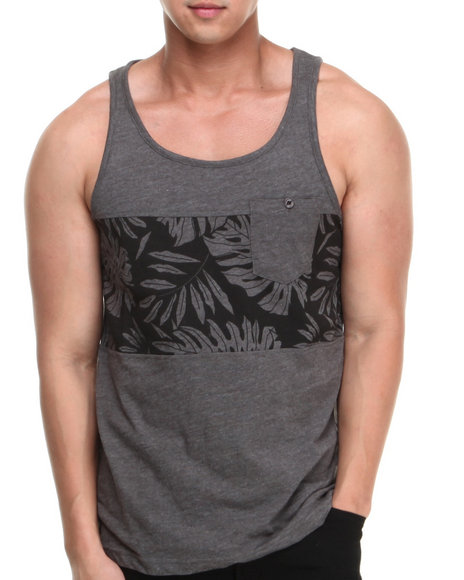 Buyers Picks - Men Grey Heathered Trinidad Tank Top - $7.99