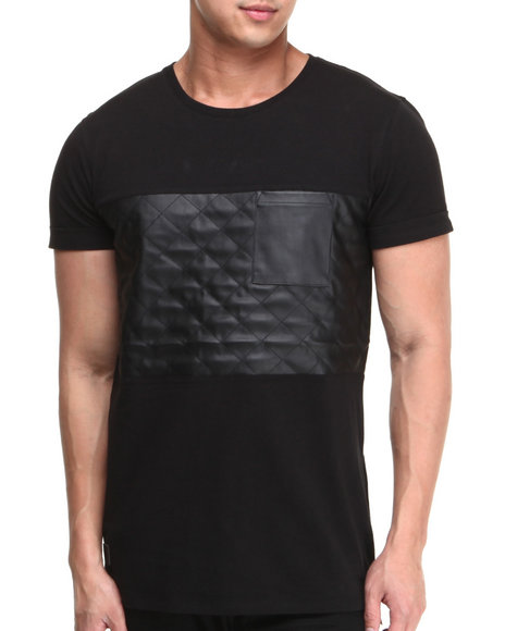 Black Kaviar Black Griffin Pu Pieced Tee
