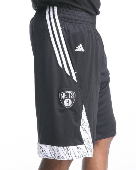 Adidas Black Brooklyn Nets Pre-Game Shorts