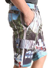 Cote De Nuits - Microfiber All-Over Printed Shorts