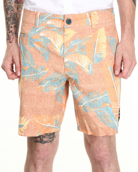 RVCA Orange Fronds With Benefits Hybrid Shorts