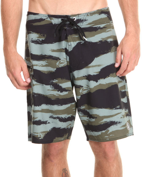 Volcom - Men Camo Lido Solid Board Shorts