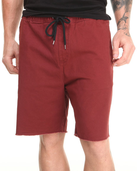 Brixton - Men Maroon Madrid Twill Shorts