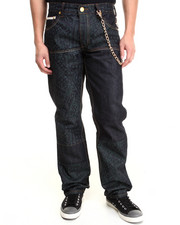 Men - Bandana Discharge Print 5-Pocket Denim Jeans