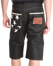 Men - White Star 5 - Pocket Denim Shorts