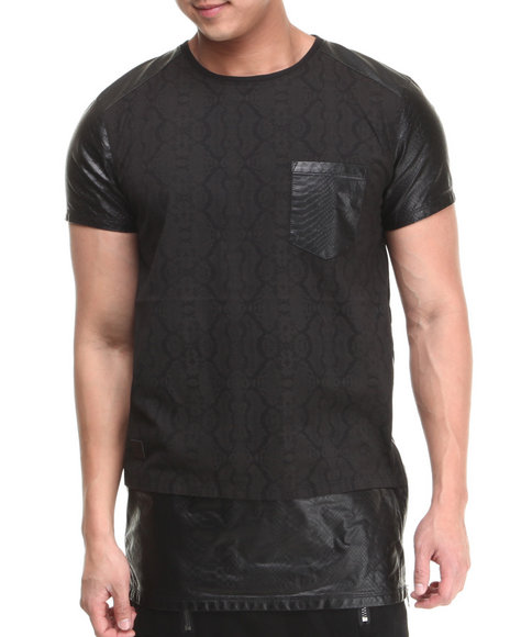 Black Kaviar Black Gaelic Pu Pieced Tee