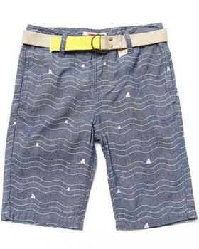 Levi's - BEACH COMBER BELTED PRINTED FLAT FRONT SHORTS (8-20)