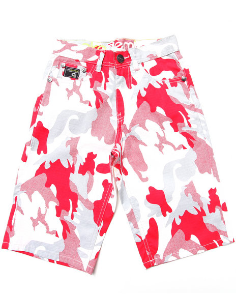 Akademiks - Boys Camo,Red Camo Shorts (8-20)